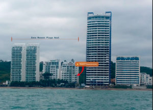 Estamos ubicados en la zona Resort Playa Azul - Quinto piso